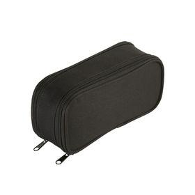 Eco Dual Zip 20cm Pencil Bag - Black