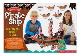 Melissa and Doug Pirate Ship 3D Puzzle