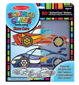 Melissa and Doug Stained Glass - Race Cars Ornaments
