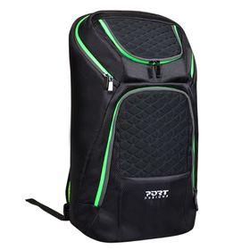 """Port Designs Gaming Backpack 17.3"""" - Black/Green"""