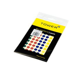Tower C10 Colour Code Labels (Sheets) - 10mm - Mixed Colours