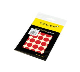Tower C19 Colour Code Labels (Sheets) - Red