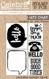 Celebr8 Let's Chat Stamp - Let's Chat