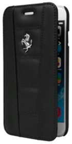 Ferrari 458 for iPhone6 Leather Book - Black/Silver
