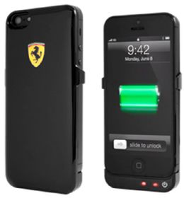 Ferrari for iPhone6 Back Cover Power case 2.2a - Black
