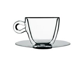 Luigi Bormioli - 300ml Thermic Tea Or Coffee Cup With Saucer - 2 Pack
