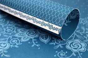 Lady Pattern Paper Basic Essentials Lucy Lace - Dazzling Blue (10 Sheets)