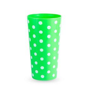 Lumo - Lotus 600ml Polka Dot Printed Tumbler - Neon Green