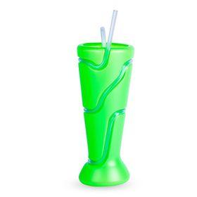 Lumo - Tumbler with Wrap Around Straw - Neon Green