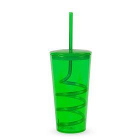 Lumo - Tornado Tumbler with Straw - Emerald Green