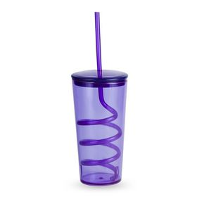 Lumoss - Tornado Tumbler With Straw - Purple