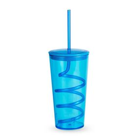 Lumoss - Tornado Tumbler With Straw - Turquoise