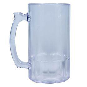 Lumo - Beer Mug - 500ml Clear Plastic