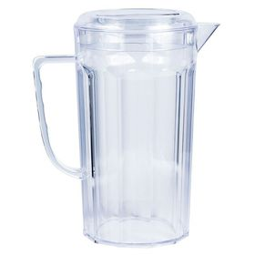 Lumo - Plastic Jug with Lid - Clear