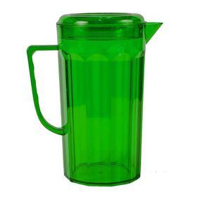 Lumo - Plastic Jug with Lid - Emerald Green