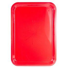 Lumo - Plastic Rectangle Tray 37cm x 27cm - Red