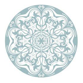 Lumo - Coaster Round - Blue Lace