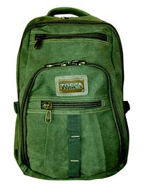 Tosca 15 inch Canvas Laptop Backpack - Green