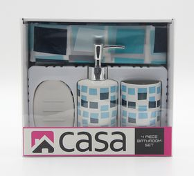 Casa - PEVA & Ceramic Gift Set - Blue Mosaic