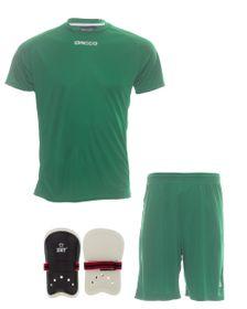 Mens Dacco Soccer Shirt, Shorts and Pele Senior Shinguard
