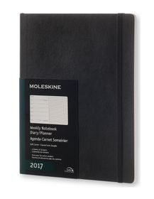 Moleskine 2017 Black Extra Large Weekly Soft Cover Diary