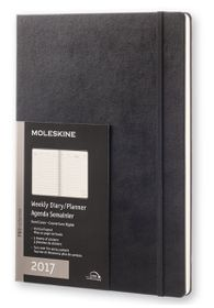Moleskine 2017 Black A4 Weekly Vertical Hard Cover Diary