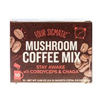 Four Sigma Foods Mushroom Coffee, Cordyceps and Chaga,10 Sachets