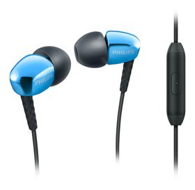 Philips SHE3905 In-Ear Headphones with Mic - Blue