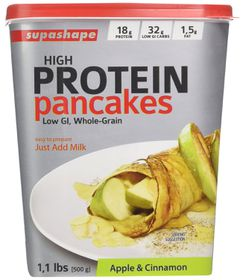 Supashape Protein Pancakes - Apple and Cinnamon