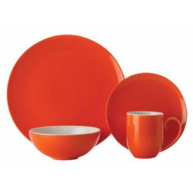 Maxwell and Williams - Colour Basics Coupe Dinner Set - 16 Piece Orange