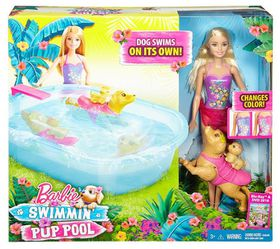 Barbie Doll And Pool Party Pups