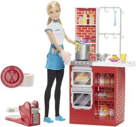 Barbie Spaghetti Chef Doll And Playset
