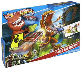 hot wheels t rex takedown playset buy online in south. Black Bedroom Furniture Sets. Home Design Ideas