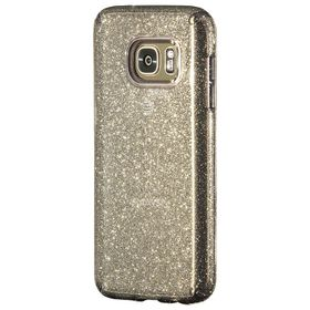 Speck Candyshell Clear with Glitter for Samsung Galaxy S7 - Onyx/Gold Glitter