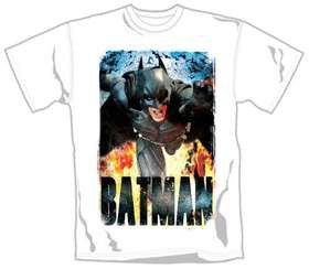 The Dark Knight Rises Running Flames T-Shirt (Small)