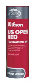 Wilson Us Open Red Tournament - 3 Ball Tin