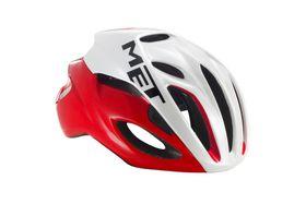 MET Rivale Helmet - Red / White- Size: Large