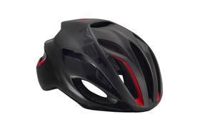 MET Rivale Helmet - Matt Black / Red- Size: Medium