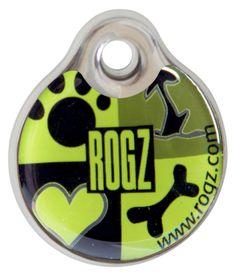 Rogz - 2.7cm ID Tagz - Lime Juice Design