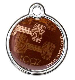Rogz - 3.1cm ID Tagz Metal Tag - Mocha Bone Design