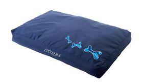 Rogz - Medium Flat Pod Dog Bed - Navy Zen Design