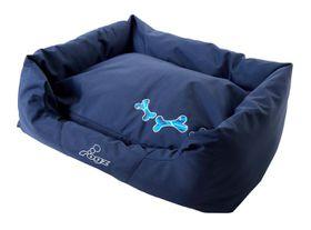 Rogz - Medium Spice Pod Dog Bed - Navy Zen Design