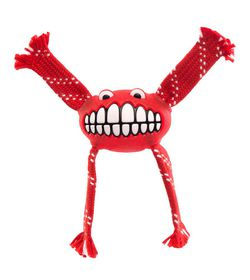 Rogz - 19cm Flossy Grinz Oral Care Dog Toy - Red