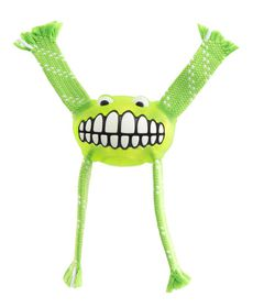 Rogz - 19cm Flossy Grinz Oral Care Dog Toy - Lime