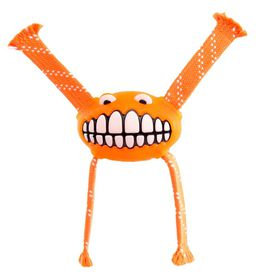 Rogz - 29cm Flossy Grinz Oral Care Dog Toy - Orange