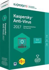 Kaspersky Anti-Virus 2017 Box Pack - 1 User
