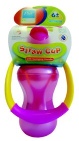 PUR - Straw cup with swinging handle (250ml)