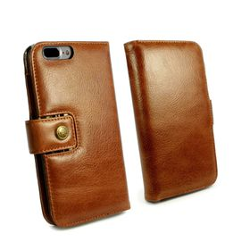 Tuff-Luv Alston Craig Vintage Leather plus Screen Protector for iPhone 7 Plus - Brown