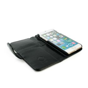 Tuff-Luv Vintage Leather Wallet and Screen Protector for iPhone 7 - Black