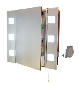 Bright Star - Mirror Front Cabinet With Back Fluorescent Lighting
